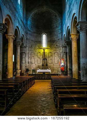 Hdr Santa Maria Nuova Church In Viterbo