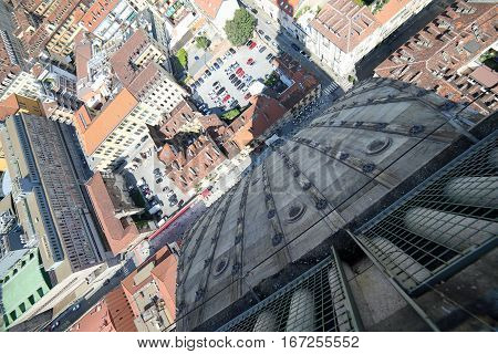 Turin From The Highest Building Called Mole Antonelliana
