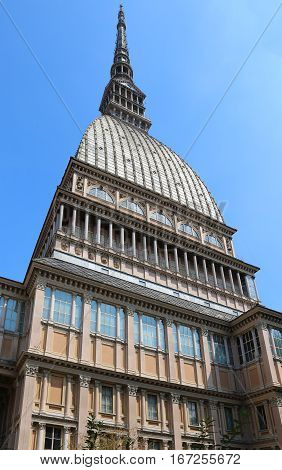 City Of Turin In Italy And The Mole Antonelliana