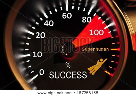 Success Meter high quality and high resolution computer graph