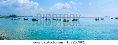 Panorama Of Weligama Bay