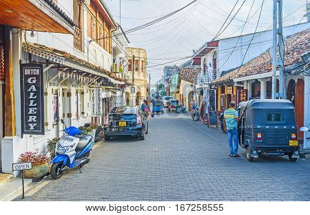 The Tourist Street Of Galle