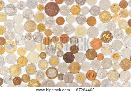 Background Made From Different Collector's Coins