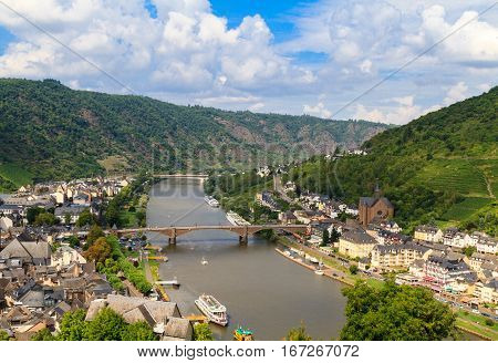The view of the Mosel Valley in Germany