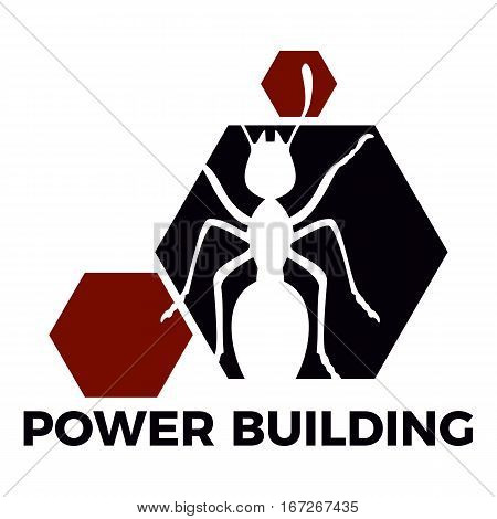 Logo consept of building company. Power building
