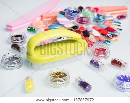 manicure set with nail file and charts