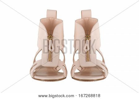 Shoes. Women's shoes on a white background. premium footwear. Italian branded shoes.