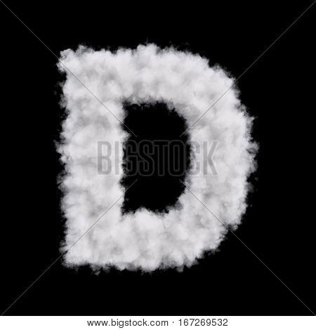 Cloud Letter D