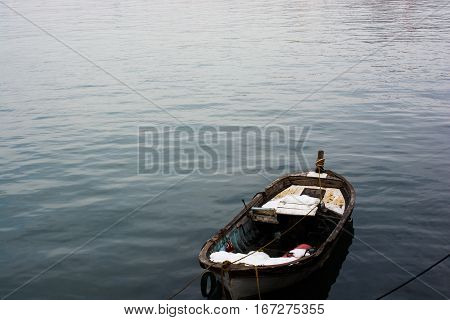 Fishing boat in the waters of the sea