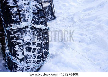 the chains snow for a wheel car