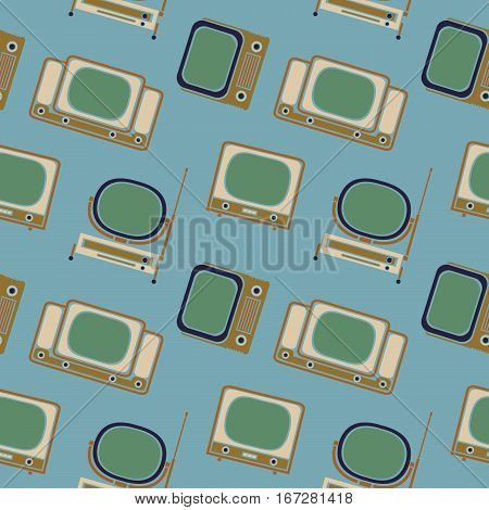 Vector Pattern 50s. Backdrop 1950s retro style.