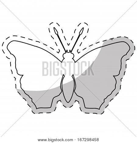 contour butterfly feminist defense design, vector illustration