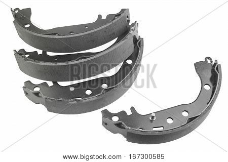Brake pads car isolated on white background