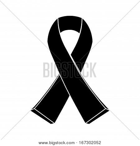 black breast cancer ribon image design icon