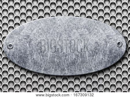 Gray Metal Frame With Mesh In The Background, Texture Iron Template