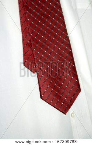 White dress shirt and tie for business or formal weal