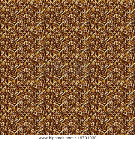 Floral gold seamless background - texture pattern for continuous replicate.