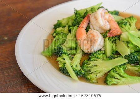 Stir-Fried Shrimp with Broccoli Recipe, Thai foods
