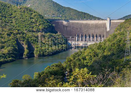 Bhumibol Dam, Concrete Arch Dam On Ping River