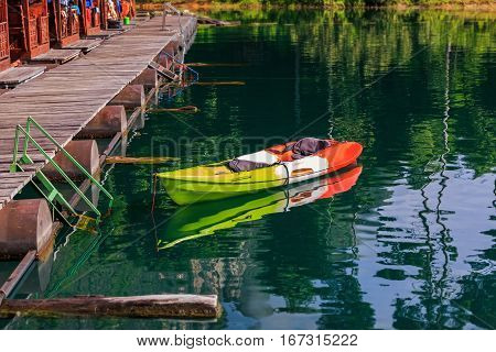 Colorful Kayak For Tourists