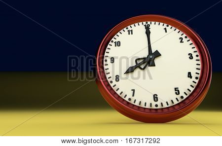 big clock deadline rush time eight o'clock 3D illustration