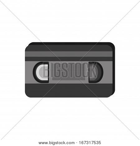 vhs tape movie record retro vector illustration eps 10
