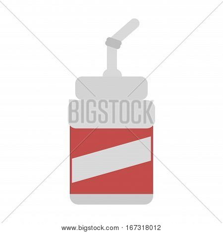 plastic cup soda drink cinema movie vector illustration eps 10