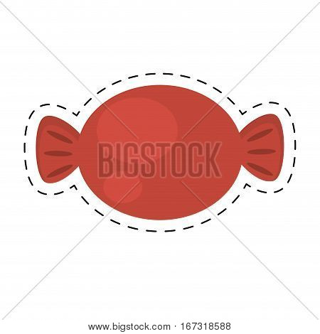 sweet candy store cinema cut line vector illustration eps 10