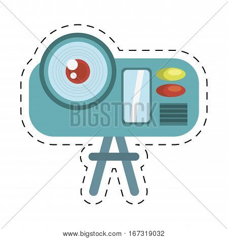 camcorder film movie device icon cut line vector illustration eps 10