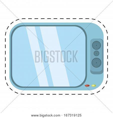 tv channel movie sound cut line vector illustration eps 10