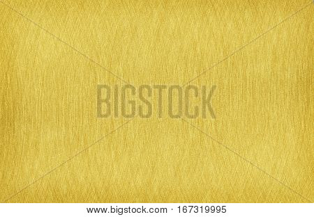 Closeup of gold steel brushed texture for background