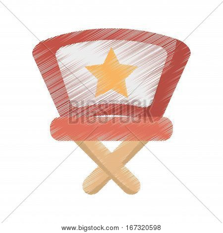 drawing director chair star movie film vector illustration eps 10