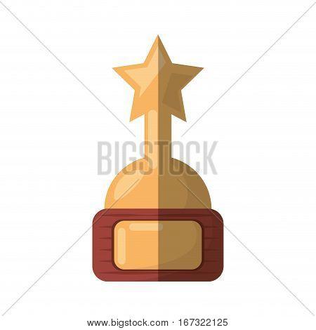cartoon golden award trophy movie industry vector illustration eps 10