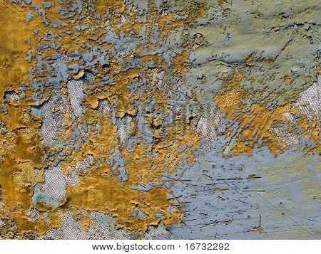 Old damaged fiberglass-reinforced plastic texture background.