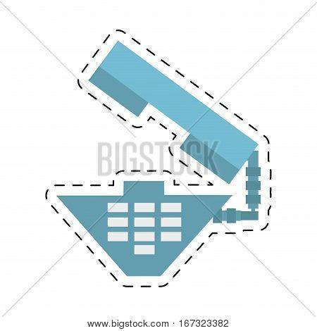 telephone call communication geometric cut line vector illustration eps 10