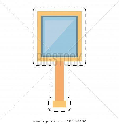road sing board empty geometric cut line vector illustration eps 10