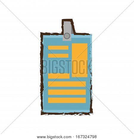 identification card plastic corporate color sketch vector illustration eps 10