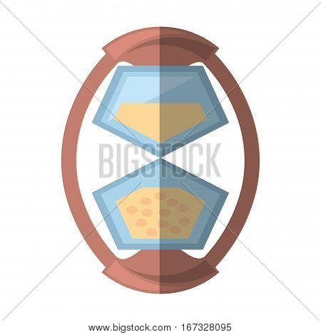 sand clock time glass wooden shadow vector illustration eps 10