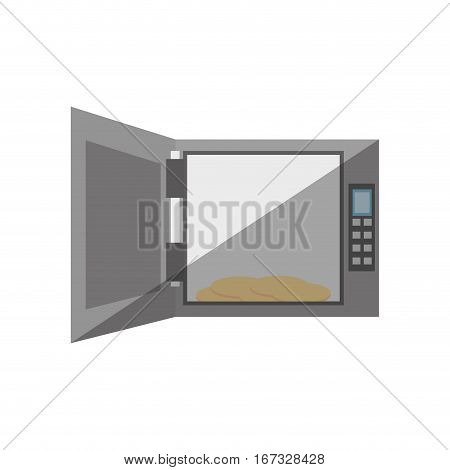 open safe box lock combination security shadow vector illustration eps 10
