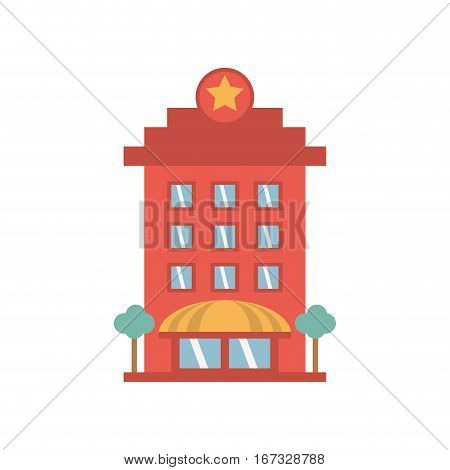 building hotel lodging stars vector illustration eps 10