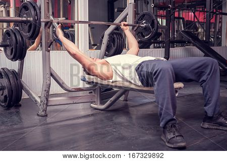 Man Working In The Gym