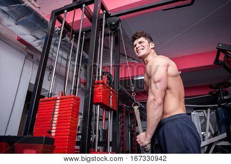Screaming Bodybuilder In The Gym