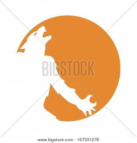 The silhouette of a werewolf in the moon vector illustration