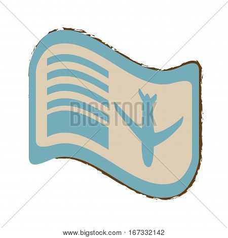 airline boarding pass travel color sketch vector illustration eps 10