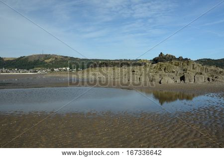 A view of the Black rocks near Burntisland
