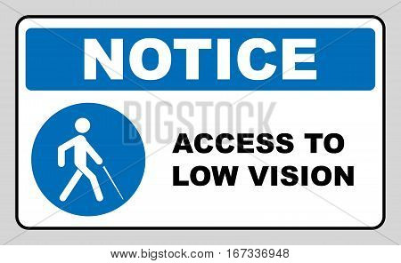 Access to Low Vision symbol. blindness line icon, outline vector logo illustration, linear pictogram isolated on white. Disabled sign for public places and web. Notice banner
