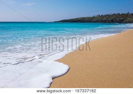 Beautiful sands and clear water at Kenting Beach in southern Taiwan.