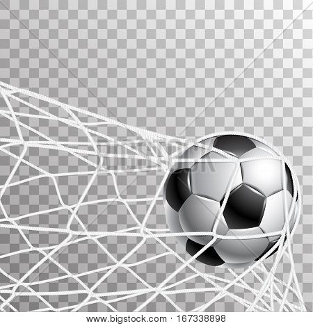 On the image presented Soccer Ball in a grid of gate