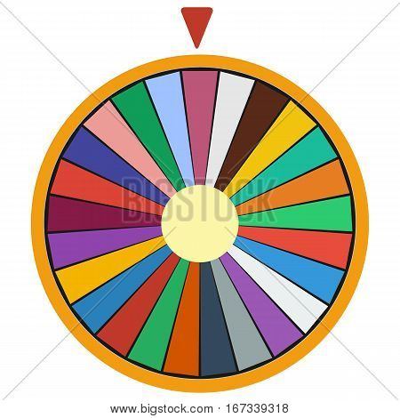 Wheel of Fortune luck flat icon on white background vector illustration