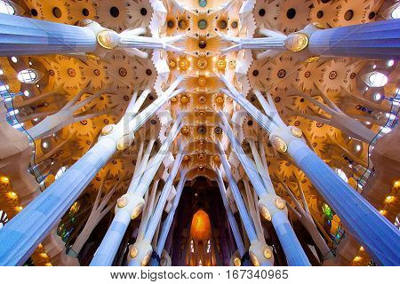 Barcelona Famous Building Art Historic Toursim Travel Sightseeing